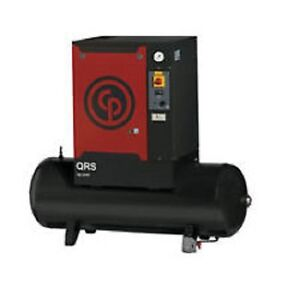 New Chicago Pneumatic 5 Hp Tank Mounted Rotary Compressor Qrs 5 0 Hp Tm