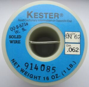 Kester Solid wire Solder Sn62 Pb36 Ag2 Tin lead silver 062 Regular 57
