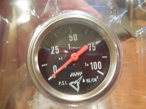 Make Waves Super Pro Mechanical Oil Pressure Gauge 2 1 16 2110 0 100 P s i