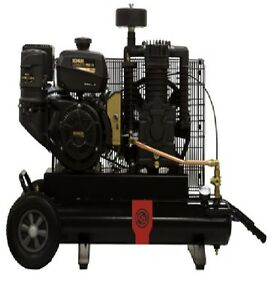 New Chicago Pneumatic 5 5 Hp Air Compressor Single Stage Gasoline Rcp 508h
