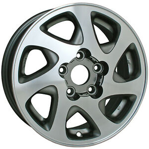 Oem Recon 15x6 Alloy Wheel Medium Charcoal Painted With Machined Face 560 69348
