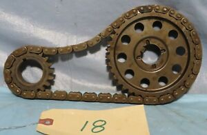 Vintage Industrial Machine Age Steel Timing Chain Gear Steampunk Art Lamp Part