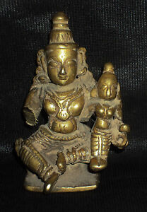 Antique Indian Ritual Bronze Shiva And Parvati Tribal Rare 1 Christmas Offer