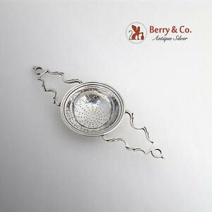 Vintage Tea Lemon Strainer Currier And Roby Sterling Silver New York 1935