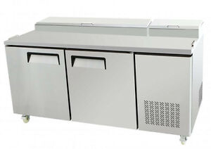 New 67 Two 2 Door Refrigerated Pizza Salad Prep Table 20 Cu Ft Restaurant