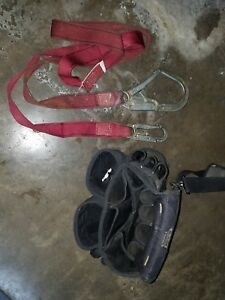 Climbing Saftey Hook Strap Harness With Tool Belt