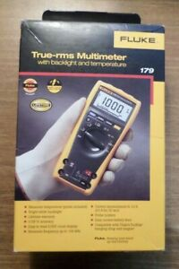 Fluke 179 True rms Multimeter With Back Light And Temperature Brand New 960169