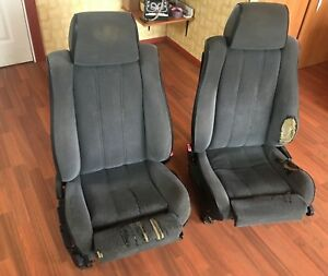 Bmw E34 M5 Fabric Recaro Seats E32 Cloth Manual Oem Seat Headrest Footrest Oem