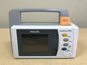 Philips Intellivue Mp2 Ibp Sp02 Nbp Temp 12 Lead W Battery Biomed Inspected