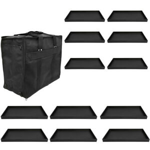 Jewelry Salesman Sample Display Carrying Case W 12 Pc 1 Deep Plastic Tray