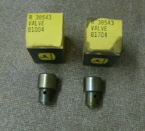 John Deere Valves R 38543 In Boxes 2 Total 81004 And 81704 Vintage Jd Parts