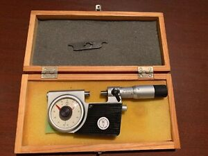 Micrometer 0 1 0 002mm Keilpart Suhl Ddr With Spi Case Used