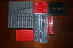 Snap On Tools Trays Only Lot Screwdriver Socket Wrench Extensions Precision