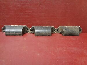 3 Antique Small Cast Iron Bin Pulls Handles 02