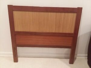 Rare Danish Mid Century Modern Reversible Twin Bed Headboards Price Is 4 Pair