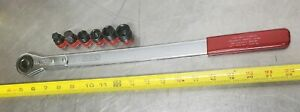Snap On Ya9350bi 5 piece Ratcheting Belt Tensioning Wrench Metric Set