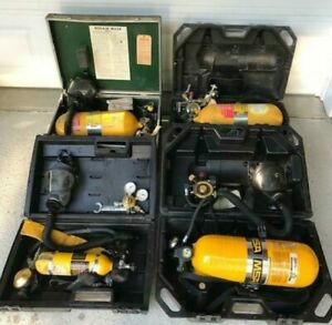Msa Mask Ii Scuba 401 Respirator Compressed Air Tank Respirator Lot Of 4