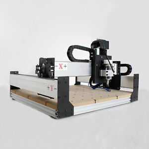 New 300w Cnc Diy Router Kit Usb Wood Engraving Carving Pcb 3 Axis Mini Machine