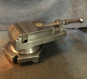 Pratt Whitney Vise 3 C Bench Horizontal Milling Machine Machinist Tool Mini Mill