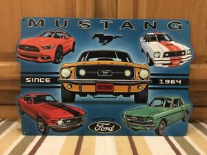 Ford Mustang Metal Advertisement Signs Garage Shop Gas Oil Bar Pub Boss Shelby