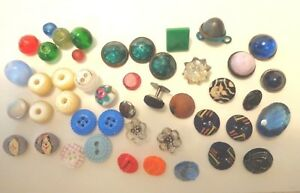 Antique Vintage Lot Of Diminutive Buttons And More