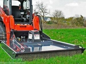 Skid Steer Brushcutter By Bradco ground Shark 78 cuts 4 Trees 33 40 Gpm 1385lb