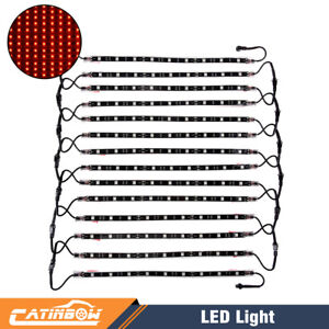 14pcs 12 Red Underglow Under Body Glow Neon Accent Led Lights Strip Car Truck