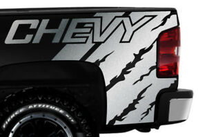 Vinyl Decal Graphics Kit Chevy Quarter For 2008 2013 Chevrolet Silverado Silver