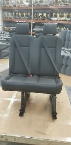 Ford Transit Oem Seat Black Leather 31 Dual Passenger Right passenger Univ