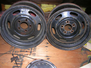 1980 Dodge E58 Police 15 X 7 Wheels Six Offered Orig Factory Finish
