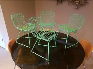Harry Bertoia For Knoll Children S Wire Chairs Set Of Four Mid Century Modern