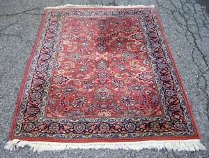Vintage Sarouk Rug Nice Design And Colors About 50 Years Old