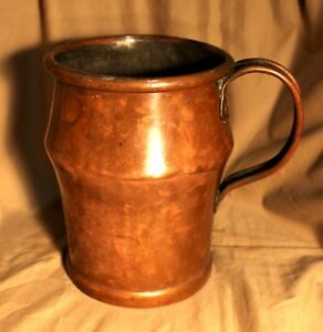 Heavy Early 19th C English Or American Baluster Shaped Copper Grain Measure