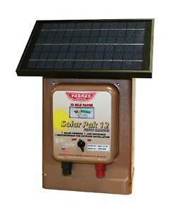 Parmak Portable Magnum Solar Pak 12 Low Battery Operated Electric Fence Charger