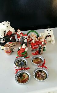 Vintage Lot of 14 Coca Cola Christmas Ornaments! 1990's