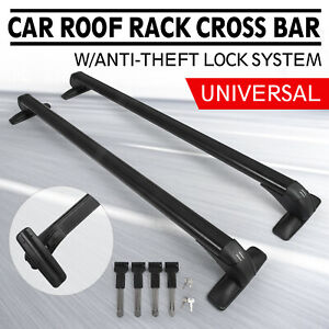 Universal Roof Rack Cross Bar Utility Black Architectural Moderate Cost