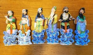 Old Chinese Porcelain Figurine Set Of Eight Immortals By Dequanxing