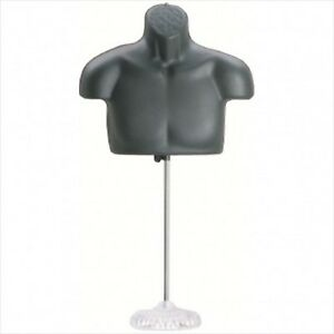 New Male Torso Mannequin Form Black W Acrylic Base