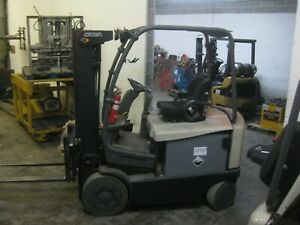 2009 Crown Fc4525 50 Electric Forklift 5 000 Lb Capacity Side Shift good sav