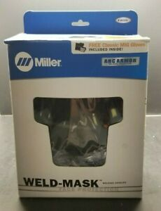 Miller Welding Goggles Mask Face Protection Gloves Included