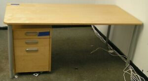 Desk With 3 Drawer Underneath File Cabinet On Wheels