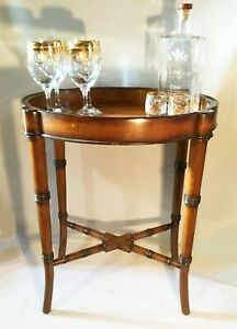 Vintage Chippendale Style Side Table Bar Cart With Elegance Jeanne Reed S