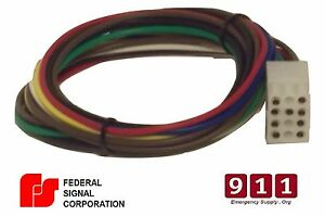 Federal Signal Replacement Siren Power Harness Plug Cable 12 Pin 1 Pa300