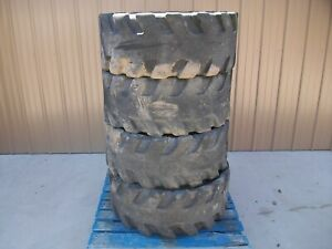 Bobcat Skid Steer Solid Industrial Cushion Wheels Tires No Flat 14 20 14 17 5