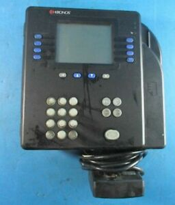 Kronos System 4500 Digital Time Clock With Finger Print Touch Id 8602800 503