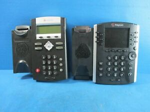 Mixed Lot Of Polycom Phones Vvx 400 And Ip335 Base Units Only