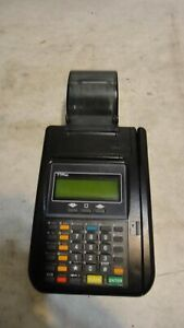 Hypercom T7p Credit Card Terminal Reader Receipt Printer W Power Adapter