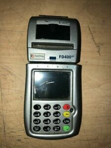 First Data Fd400 Gt Credit Card Terminal Include Battery