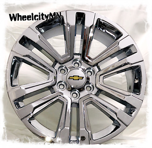 20 Inch Chrome 2018 2017 Chevy Silverado Tahoe Suburban Oe Replica Wheels 6x5 5