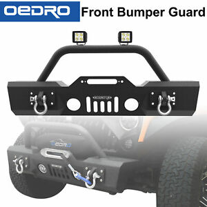 Taoautoparts Stubby Front Bumper Combo For 07 18 Jeep Wrangler Jk Star Guardian